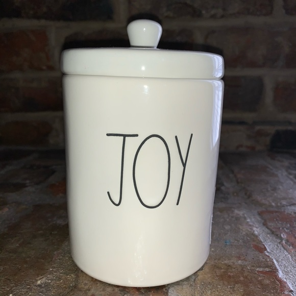 "Rae Dunn ""Joy"" small canister"